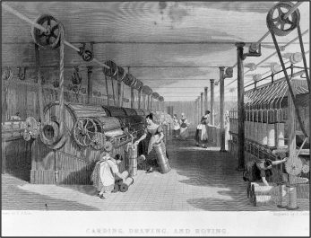 Skilled men were replaced by child labour  in cotton factories in the north of England |  WCRAG Edward Baines (1800-1890), 1835.