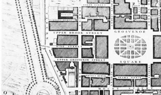 John Roque's map 1746 Grosvenor square
