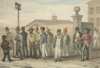A Convict Gang in Sydney. | State Library of New South Wales