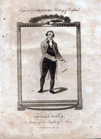 Thomas Paine, rendered here with his pamphlet