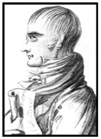 A portrait of George Edwards, the agent provocateur responsible for inciting the Cato Street Conspiracy.