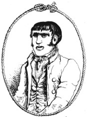 A fictitious illustration of Jack Ketch. | Whitehead, Charles (1835)