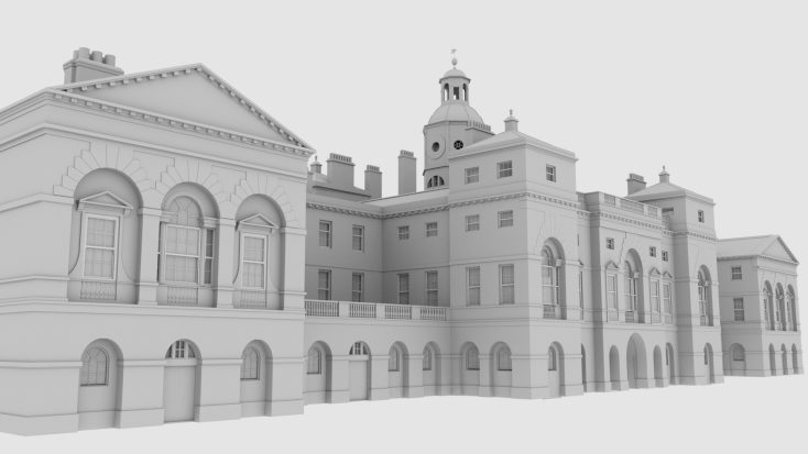 RH Viz preliminary model of Horse Guards for VR   Rob Nutter RH Viz