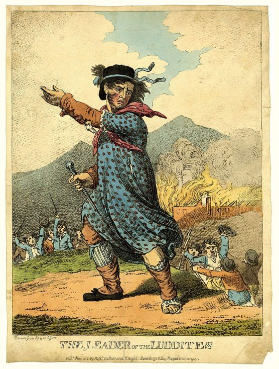 The Leader of the Luddites.  Published in May 1812 by Messrs. Walker and Knight, Sweetings All | British Museum