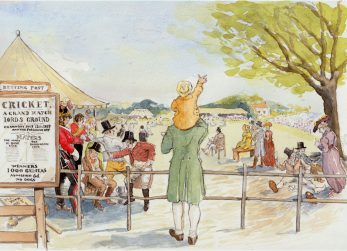Scene 6: Lord's outsider -William Davidson and his son John glimpse a view of a 'Grand Cricket Match' at Lord's 1820 | Kate Morton