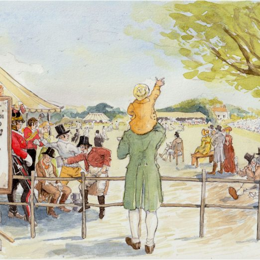 Scene 6: Lord's outsider -William Davidson and his son John glimpse a view of a 'Grand Cricket Match' at Lord's 1820   Kate Morton