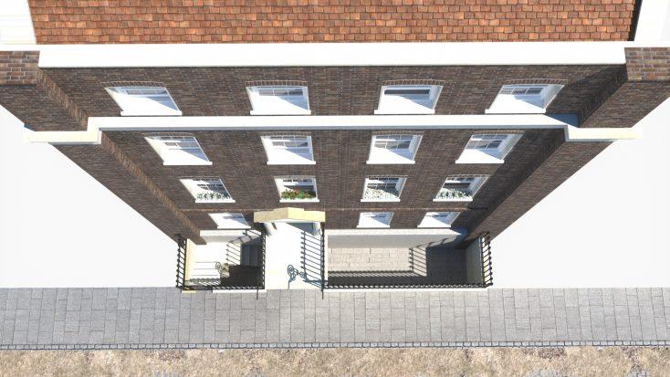 Birdseye view of Lord Harrowby's Grosvenor Square home by RH Viz   Rob Nutter RH Viz