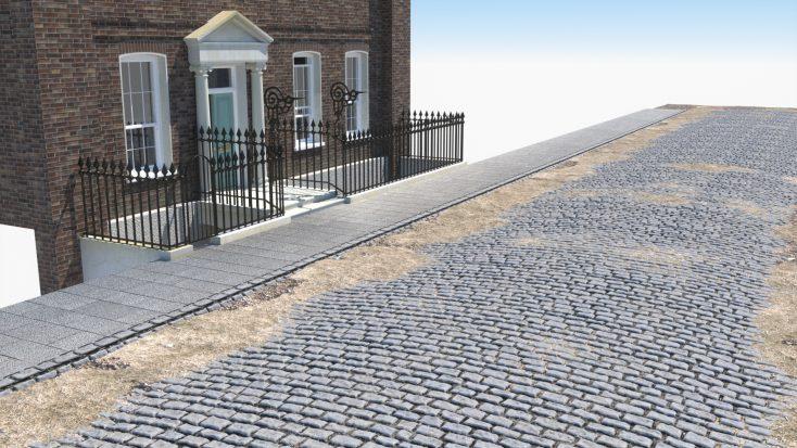 RH Viz recreated the cobbled streets outside Lord Harrowby's home at 39, Grosvenor Square   Rob utter RH Viz