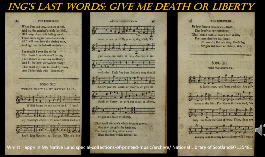 SONG: Whilst Happy in My Native Land (1713) The Last Words of James Ings