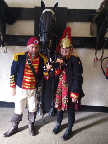 Volunteer Amber Hederer researched each soldiers story to facilitate the session at the Household Cavalry Museum with Robert Adams actor | Peter Daniel