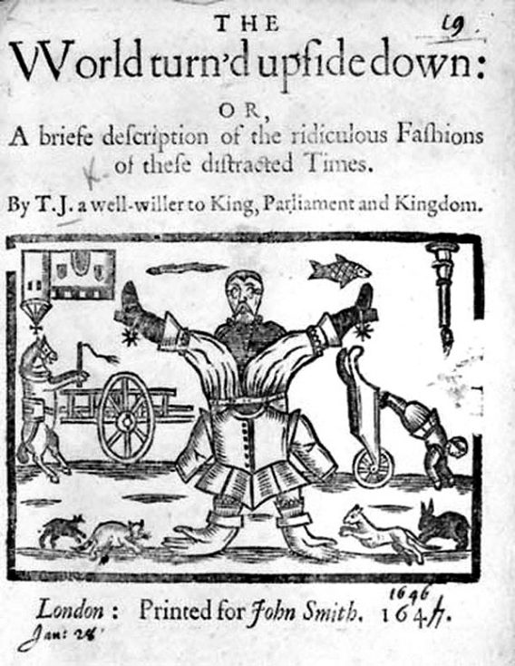 1646 Pamphlet: The World turn'd upside down | British Library