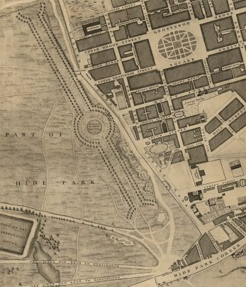 Rocque's map of London 1746 shows that Grosvenor Square was designed to withstand a revolution.  It has its own water supply and acted as a gated community with guard stables to keep out the great unwashed.   Westminster Archives