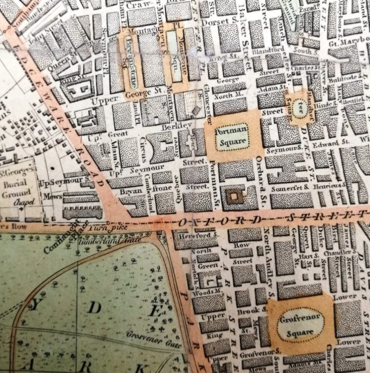 Laurie and Whittle map 1819 | Wesminster Archives