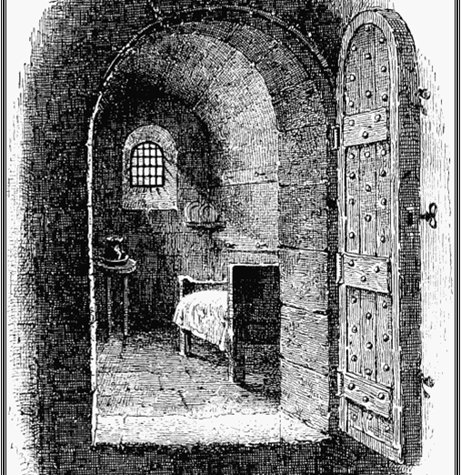 Scene 19: Newgate Prison Cell.  William Davidson, Richard Tidd, Arthur Thistlewood, James Ings and John Brunt were imprisoned at Newgate during their trial at the Old bailey. | WCRAG
