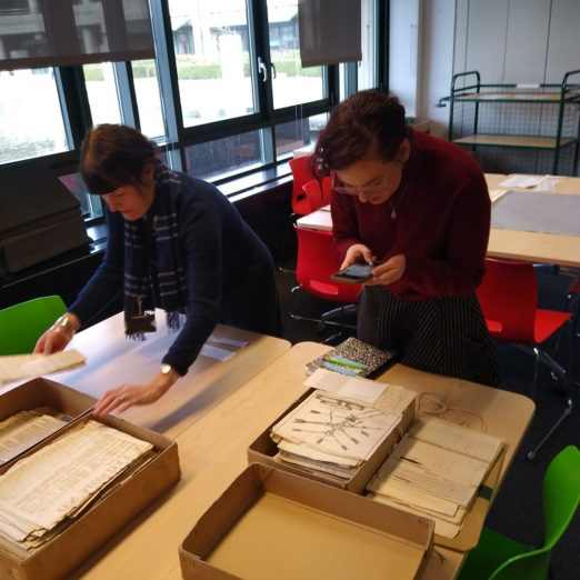 Amber Hederer was able to look at primary source documents.  here she is with Claire Horrie of National Archives   Peter Daniel