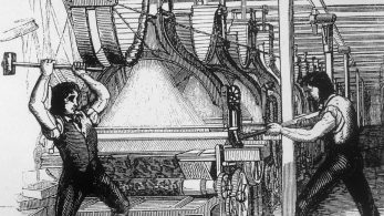 Luddites use the hammer 'Great Enoch' to destroy the machines that were taking their jobs | WCRAG