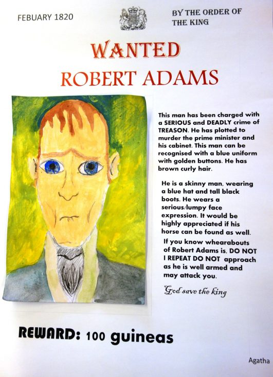 Robert Adams the Royal Horse Guard conspirator by Agatha Y5 St Gabriel's Primary School | St Gabriel's CE Primary