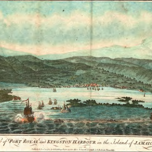 View of Port Royal and Kingston Harbour in the Island of Jamaica | F. Cary, published Nov. 1, 1782 Library of Congress