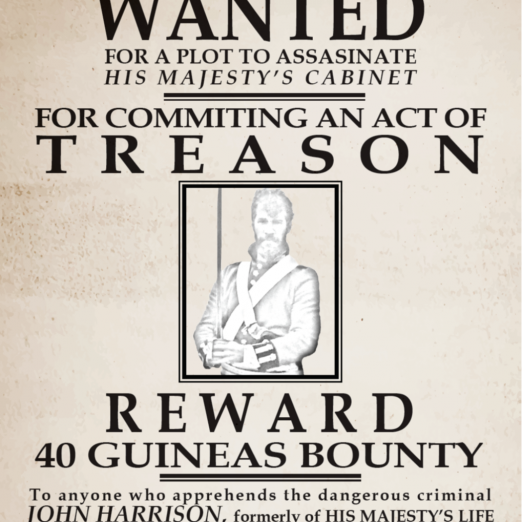 Children were given a wanted poster in class and told to find John Harrison hiding in Cato  Street | Peter Daniel