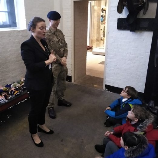 HCM Director Alice Pearson introduced children to serving members of the Household Cavalry   Peter Daniel
