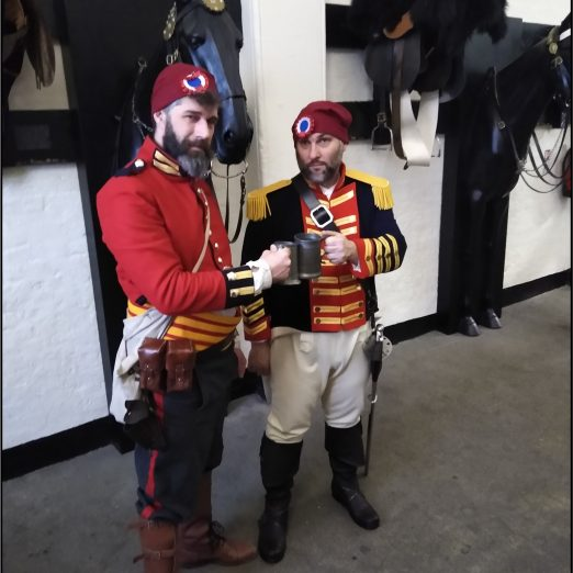 Children met two actors in the roles of the Household cavalry conspirators, former Life Guard John Harrison and former Royal horse guard Robert Adams.   Peter Daniel
