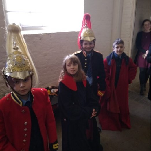 Children were able to try on replica uniforms   Peter Daniel