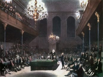 Engraving of the British House of Commons | Thomas Rowlandson (1756–1827), et al., 1808